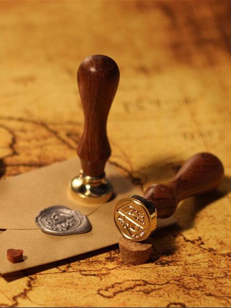 26 Letter Classic A-Z Alphabet Sealing Stick Seal Copper Letter Wax Stamp Set