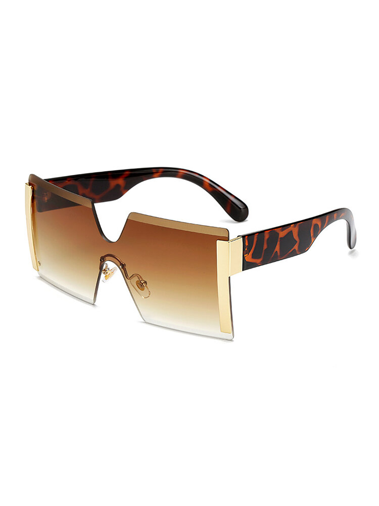 Anti-UV Square Retro Driving Glasses Fashion Big Box Personality Sunglasses