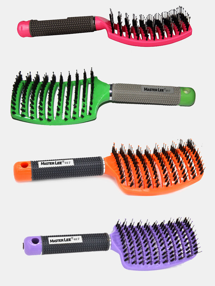 Hair Scalp Massage Comb Wet Curly Detangle Hair Arc Comb Salon Hairdressing Styling Tools