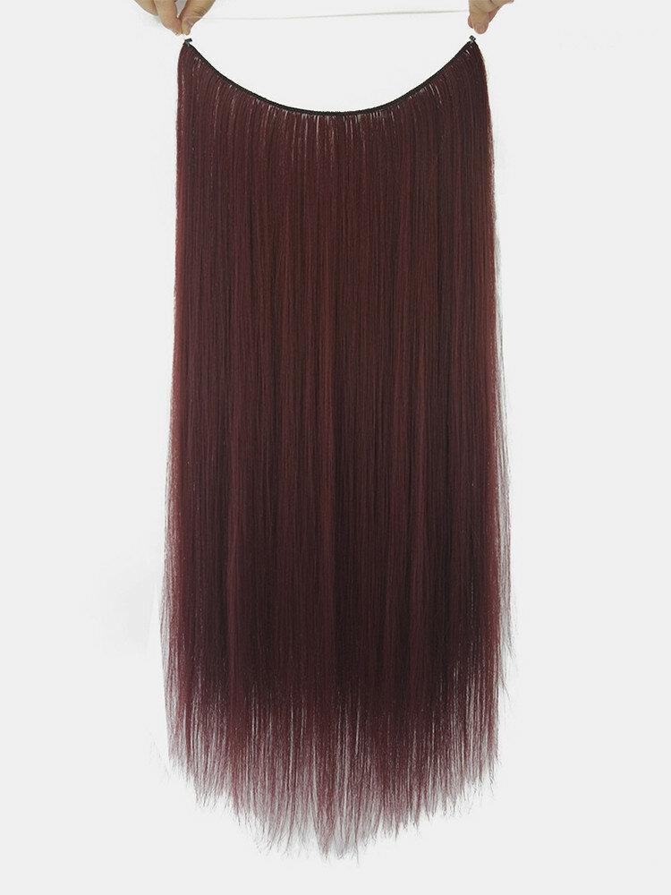 10 цветов длинные прямые Волосы удлинители химического волокна без следов ложные Волосы шт.
