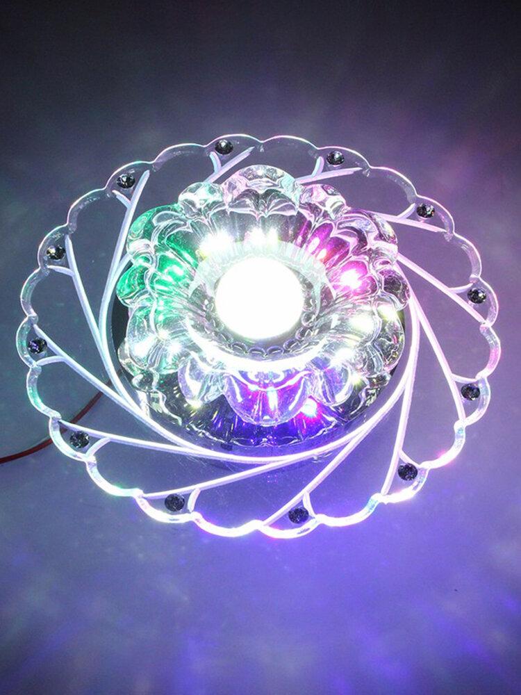 3 W Modern Crystal Ceiling Blue Light Lampe supérieure Lampe Lustre de mode Salon Accueil Déc