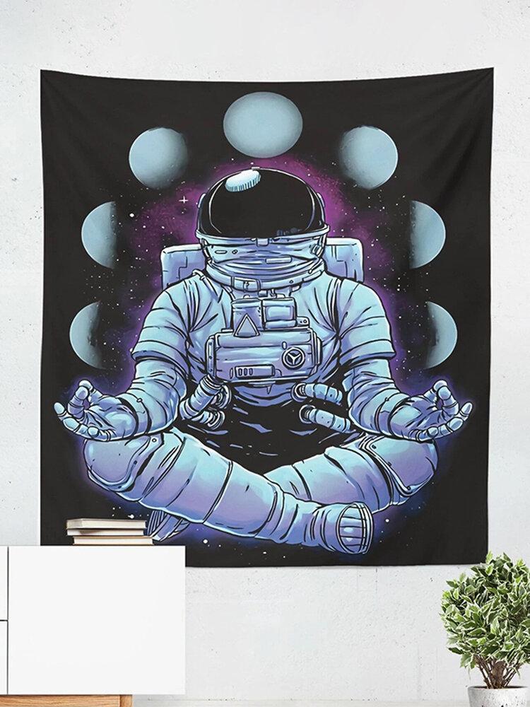 宇宙飛行士タペストリースペースムーンフェイズハンギングクロスリビングルーム背景クロスホームカーテンタペストリーウォールタペストリー