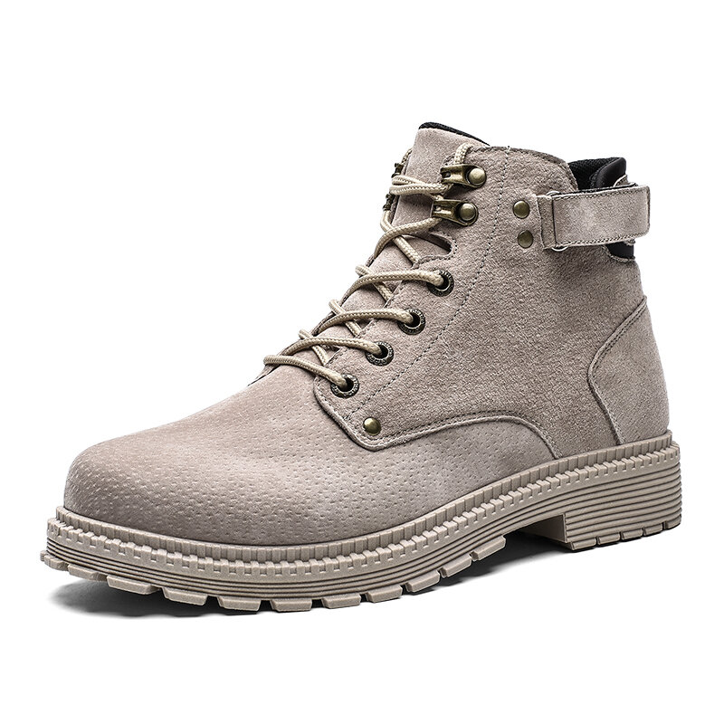 Men Round Toe Outdoor Work Style Non Slip Ankle Boots