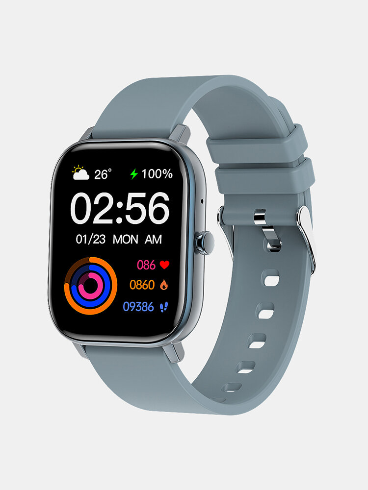 Bakeey GW22 1.6inch Large Full-touch Screen Heart Rate Blood Pressure O2 Monitor Calculator Waterproof Smart Watch