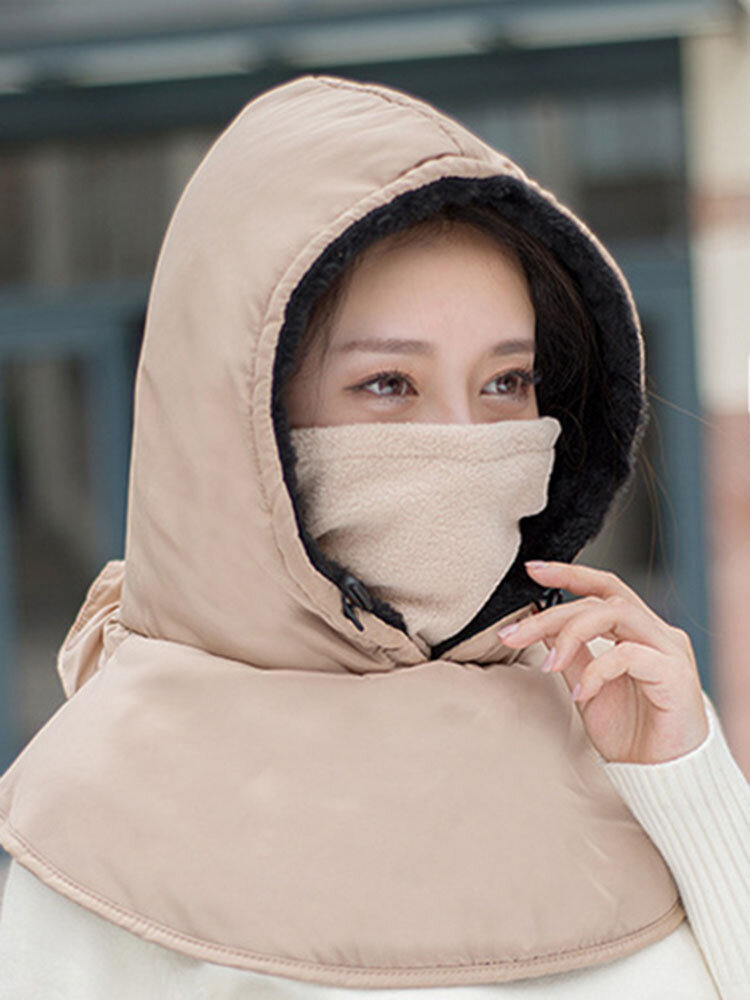Women Winter Warm Casual Hat Outdoor Riding Ear Protection Thick Windproof Ski Facemask Hat