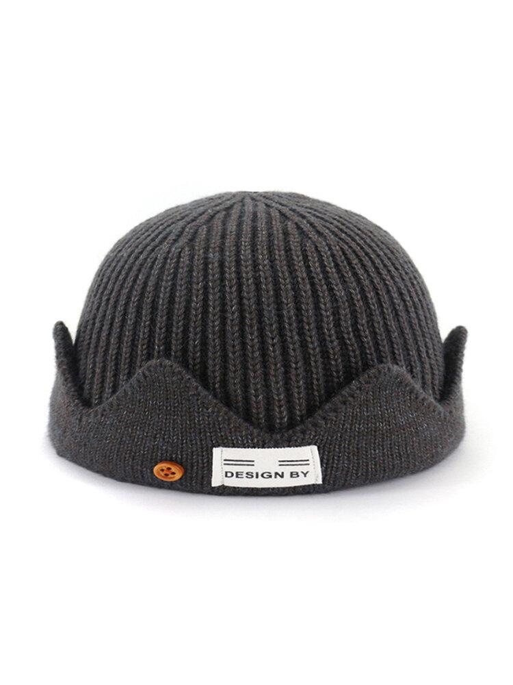 Men & Women Solid Color Knit Beanie Outdoor Travel Warm Ski Brimless Cap