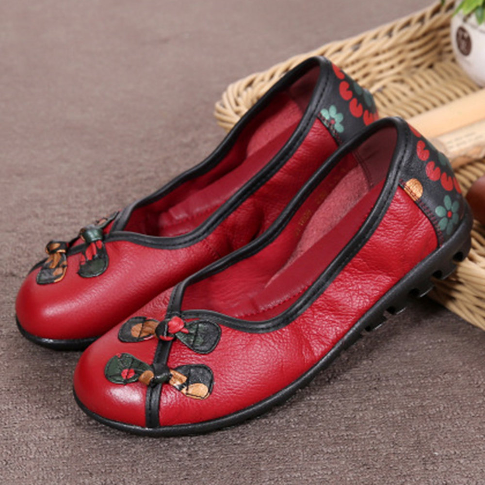 Folkways Frog Closures Slip On Lazy Flat Casual Shoes