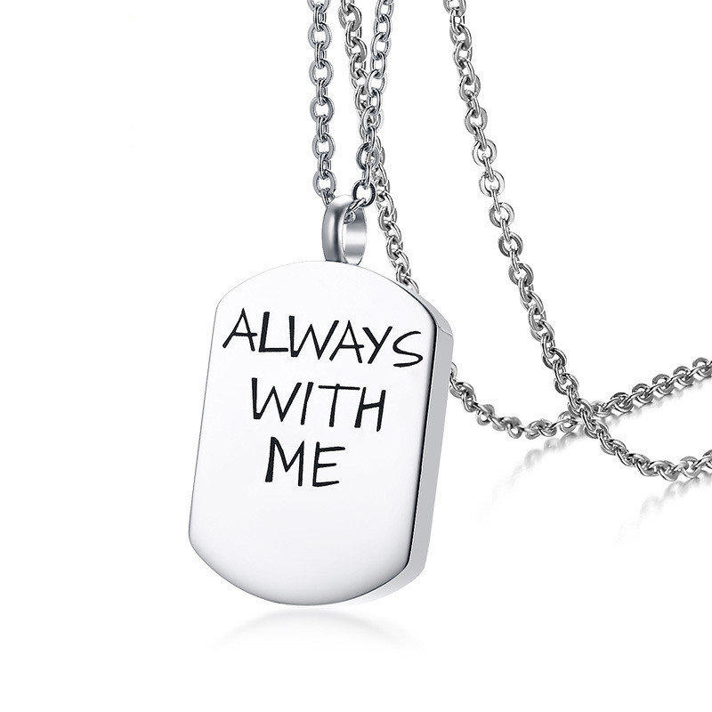 Classic Stainless Steel Pendant Urn Necklace Always With Me Bottle Necklace for Couples