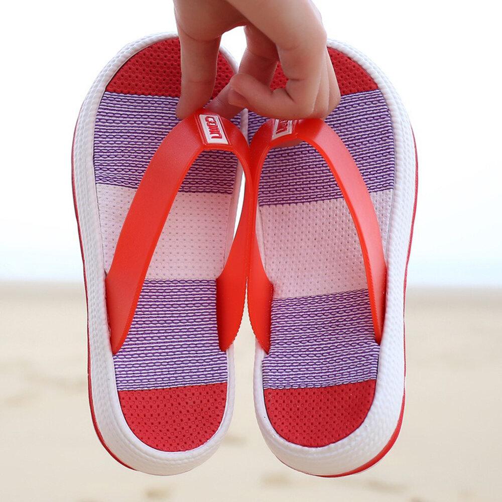 Flip Flops Platform Clip Toe Home Beach Slippers