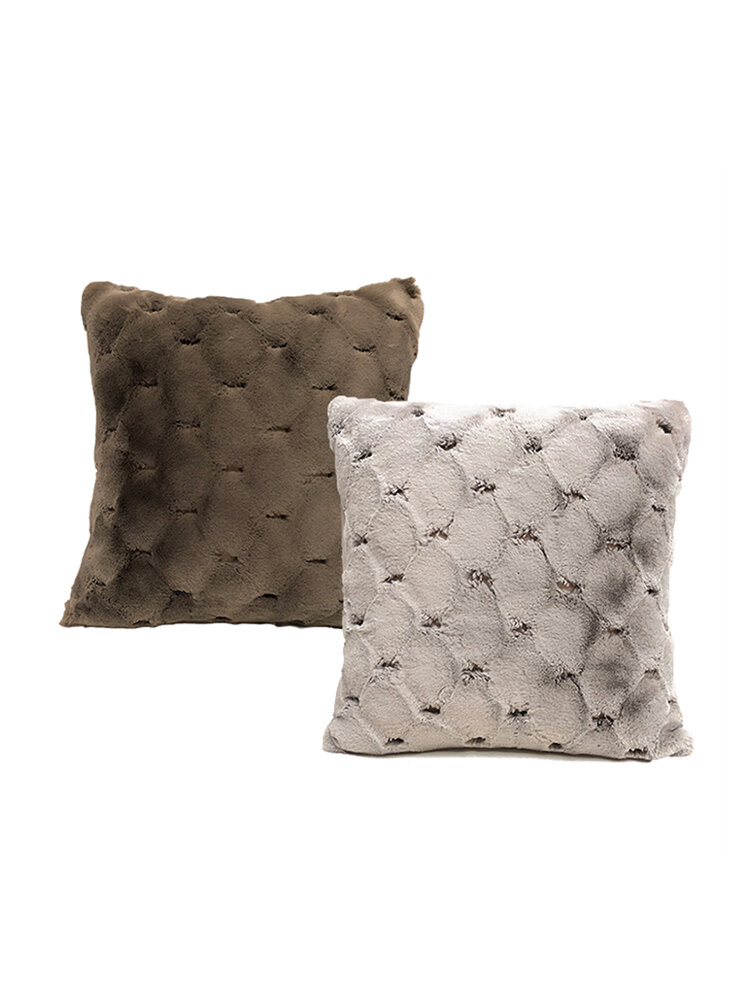 Sofa Pillowcase Nordic Simple Rabbit Hair Cushion Living Room Bedroom Simple Cushion, newchic  - buy with discount