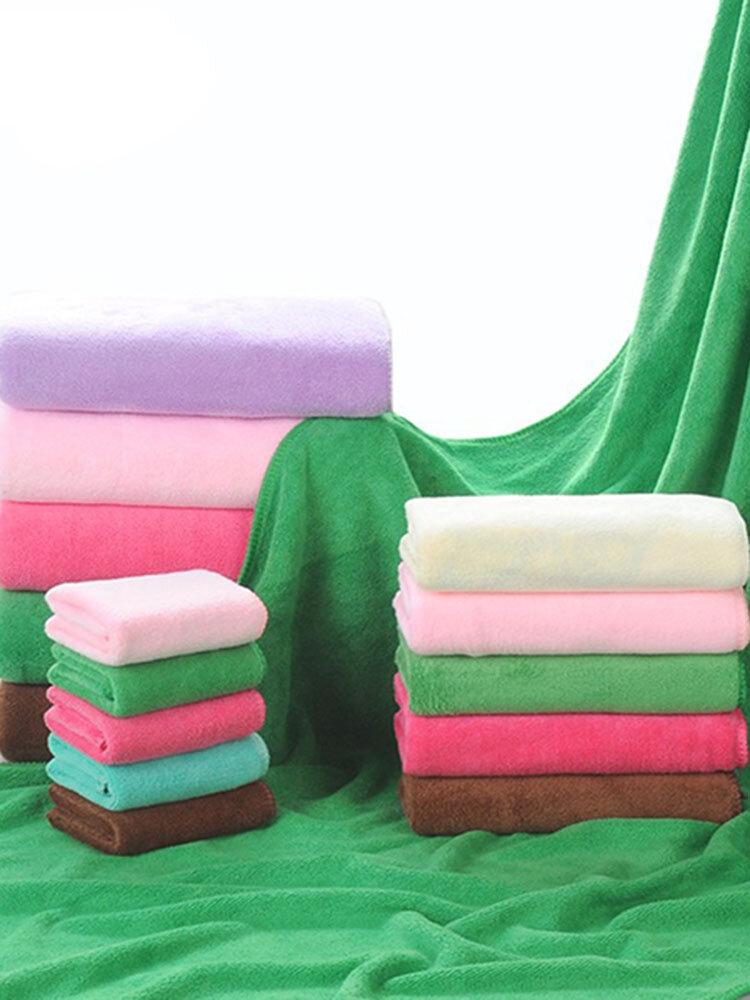 80*180cm Water Absorbing Superfine Fiber Towel Hair Dry Towel Six Optional Color