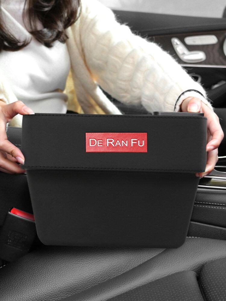 Car Seat Gap Storage Box Multi-function Leather Car box trash Water Cup Holder