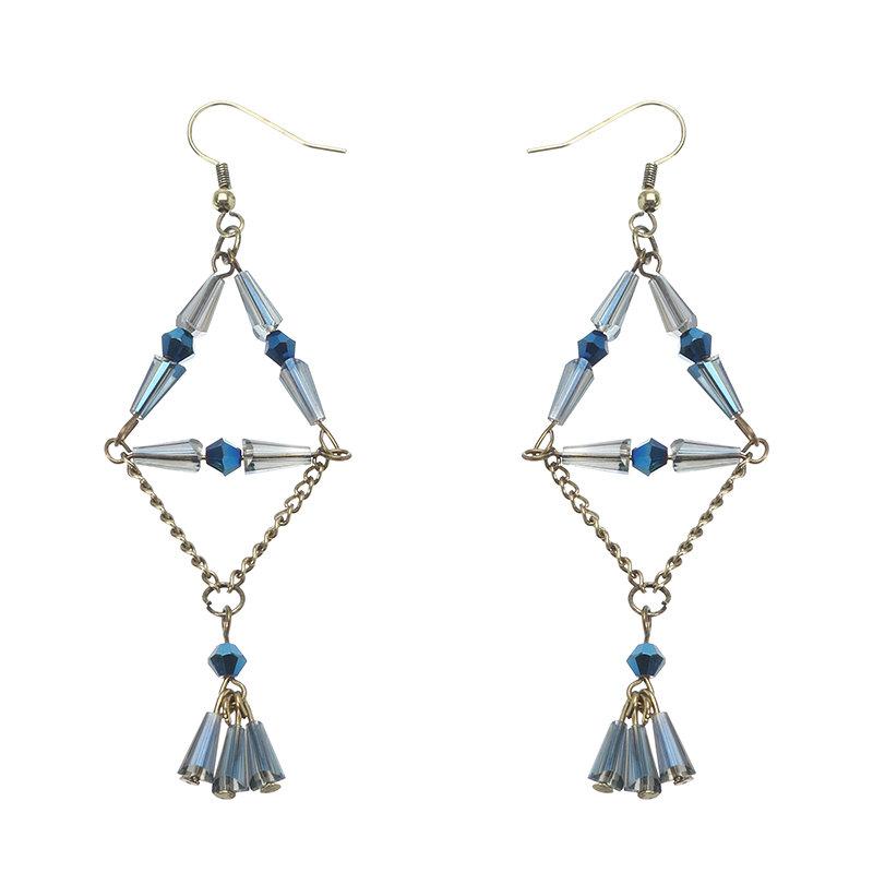 Women's Elegant Earrings Tassel Crystal Long Earrings