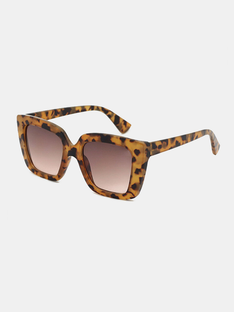 Unisex Square Full Frame Wide Frame Fashion Outdoor UV Protection Sunglasses