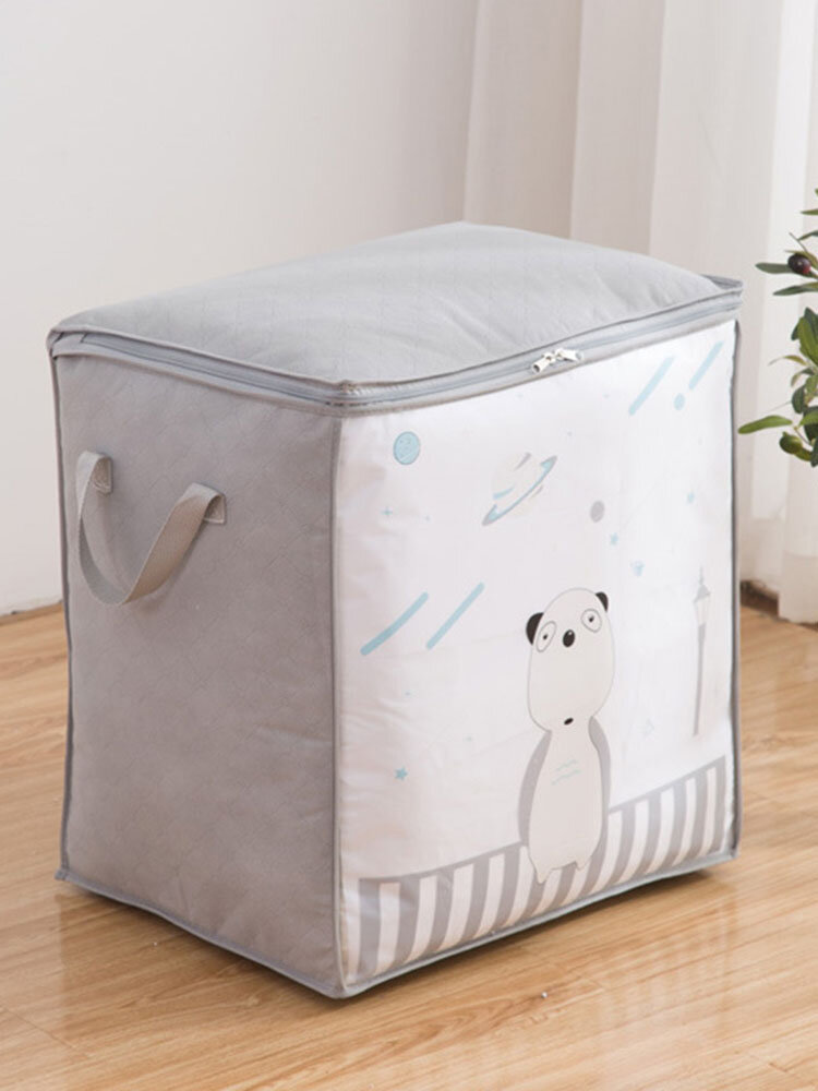 1PC Moving Packing Waterproof Quilt Wardrobe Organizer Clothes Blanket Storage Finishing Bag Home Dust Moisture-proof Washable Printed Quilts Bags