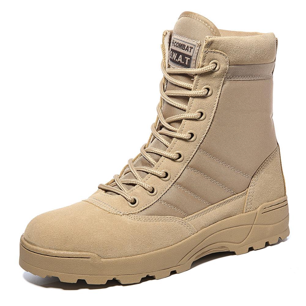 Men Outdoor Waterproof Slip Resistant Zipper Work Boots