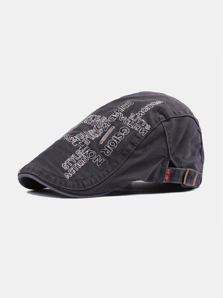 पुरुषों के पत्र कढ़ाई आकस्मिक फैशन Sunvisor फ्लैट टोपी आगे टोपी टोपी टोपी