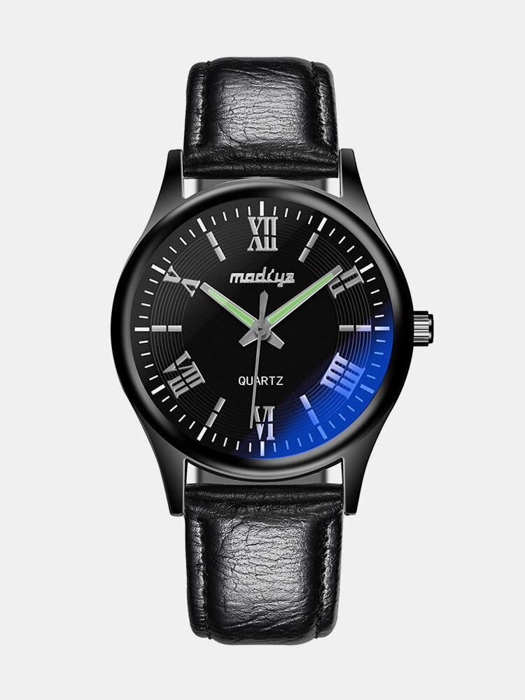 حزام زجاجي أزرق سبيكة Watch أزياء مضيئة ضد للماء كوارتز Watch