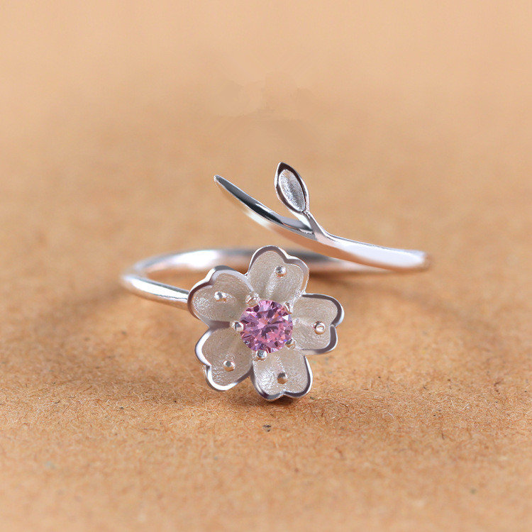 a9c1b81ed75e Anillos para mujer de plata de ley 925 Anillos para mujer de diamantes de  imitación púrpura