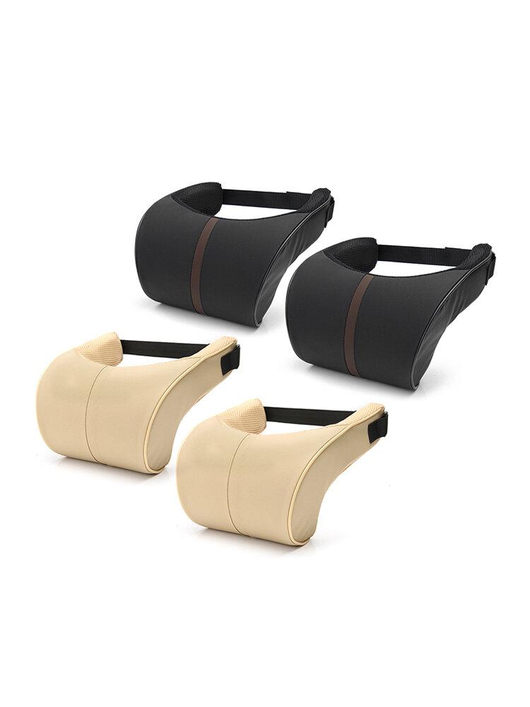 2 Pcs/set Car Seat Neck Pillow Headrest Cushion for Neck Pain Relief & Cervical Support Washable Cover Memory Foam and Ergonomic Design
