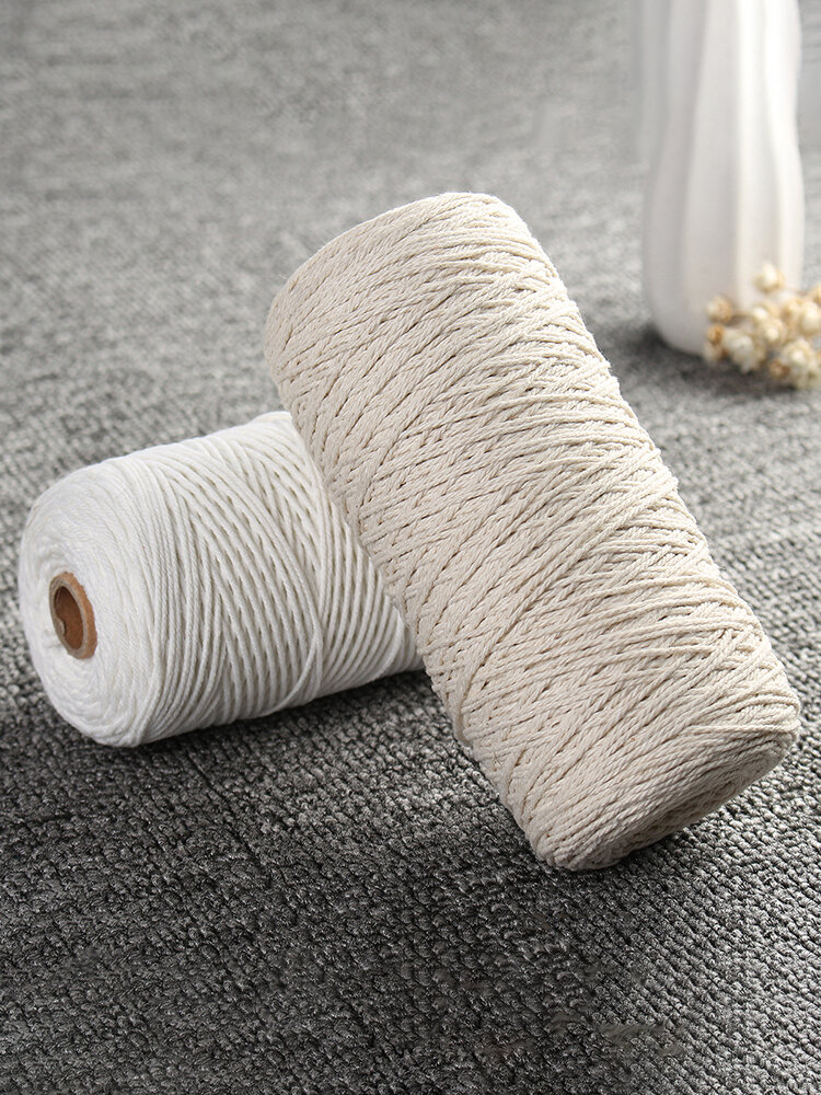 1mm 400M Macrame Cotton Rope Cord DIY Tools Strings for Home Deco Garden