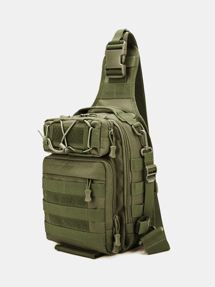 Nylon Outdoor Camo Pattern Multi-pockets Tactical Fish Bag Crossbody Bag Chest Bag