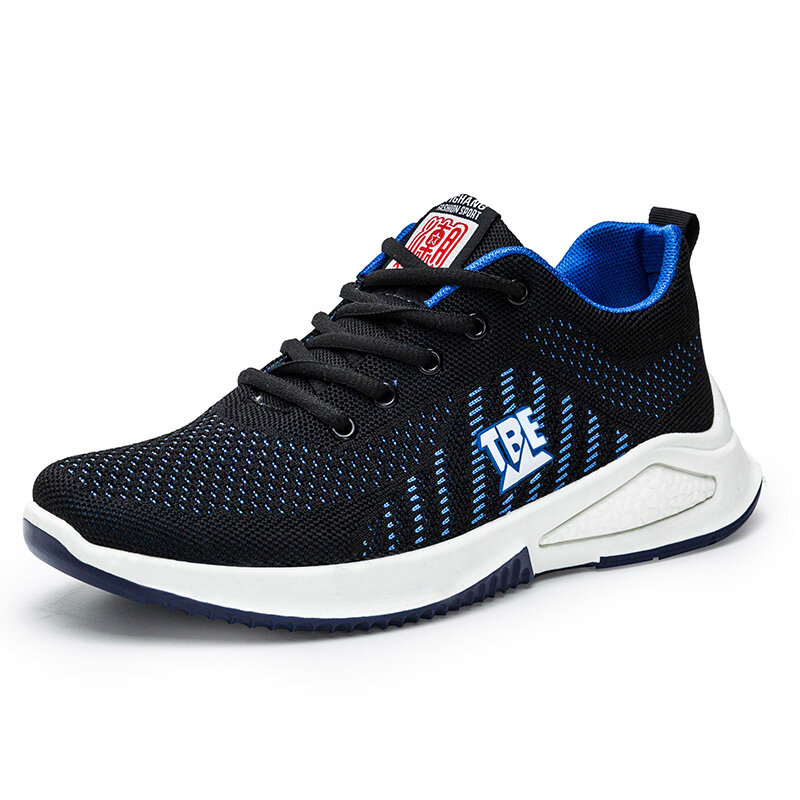 Men Knitted Fabric Sports Breathable Running Casual Sneakers