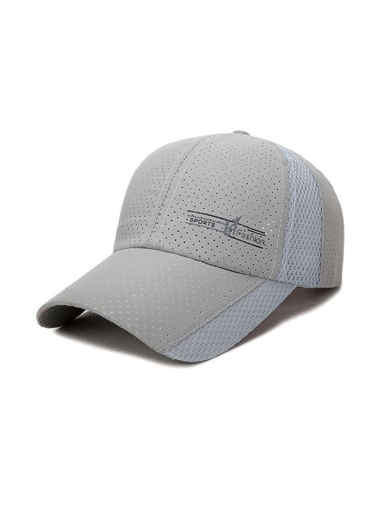 Mens Womens Summer Ultra-Thin Quick-Drying Breathable Baseball Cap Outdoor Sun Hat