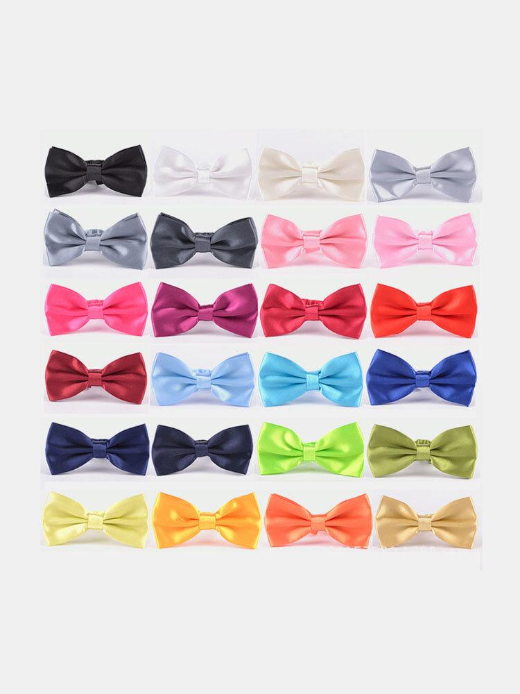 Men's Solid Color 24 Color Bow Tie Dress Tie Business Bow Tie Wedding Bow Tie