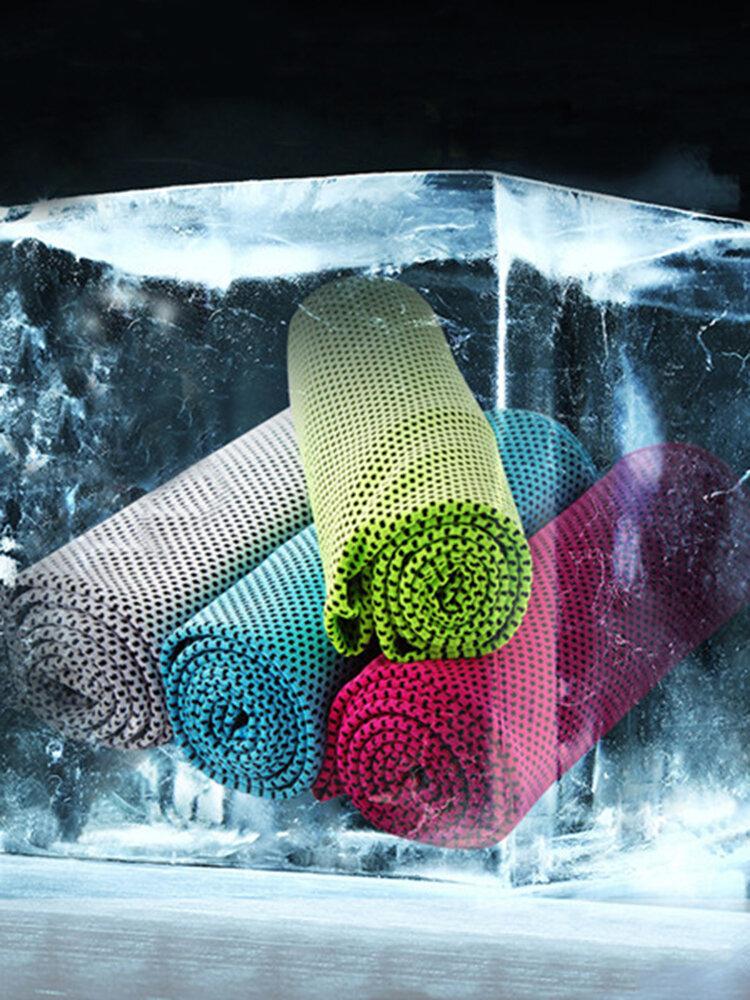 30x100cm Microfibra superabsorvente verão frio Toalha Esportes Praia Toalha de resfriamento de caminhada para viagem