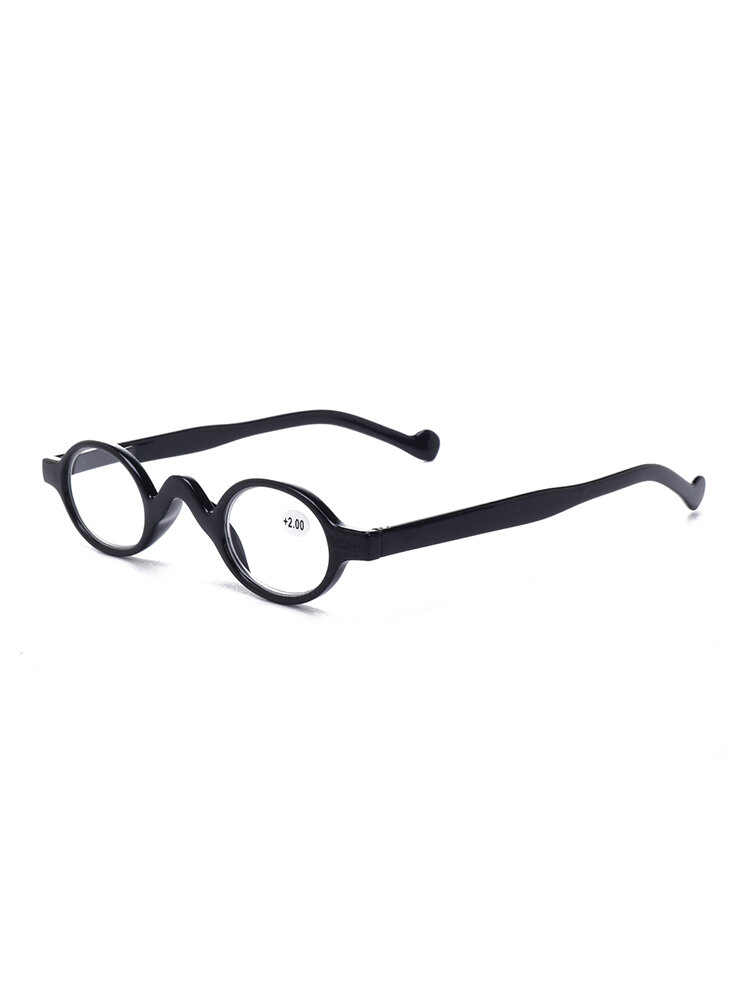 Womens Mens Plastic Frame Vintage Small Round Frame Reading Glasses Simple Durable Glasses