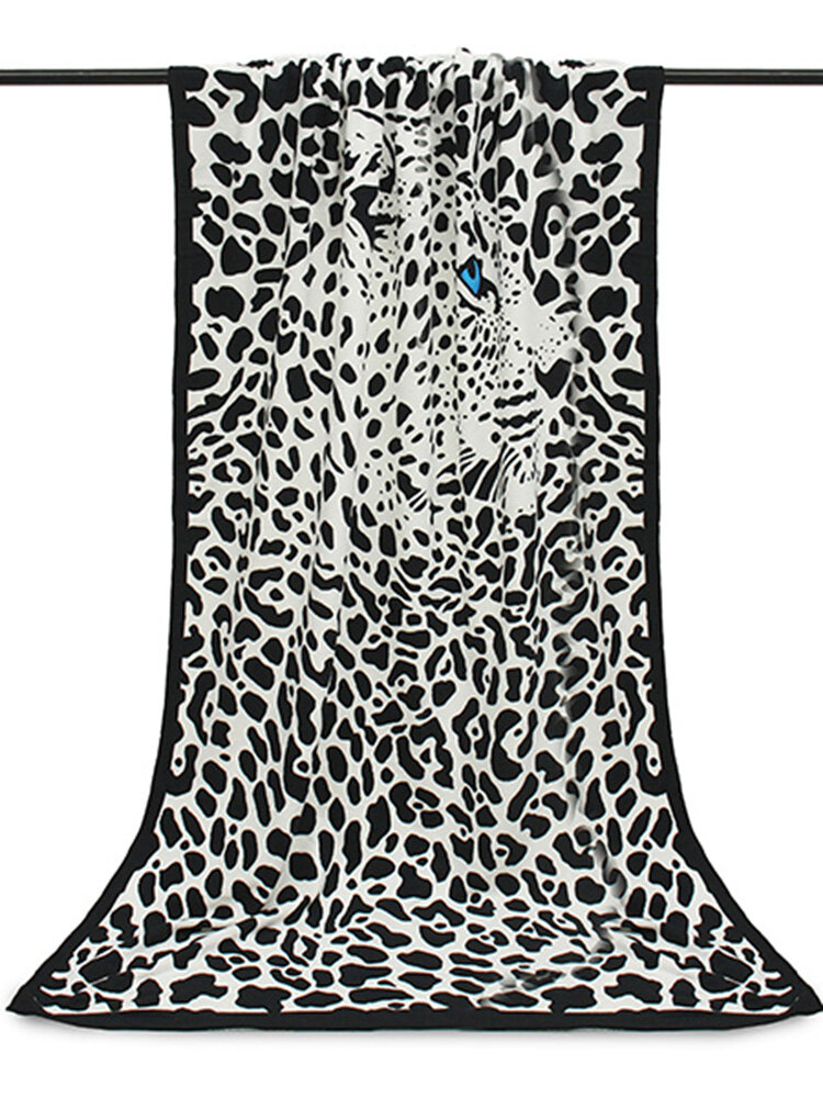 100x180cm Leopard Horses Stripe Print Absorbent Microfiber Beach Towels Quick Dry Bath Towel
