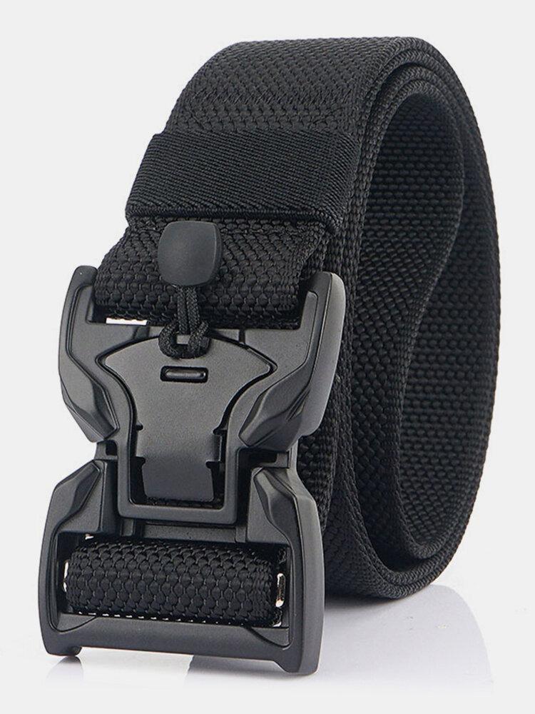 125CM Men Nylon Belt Zinc Alloy Magnetic Buckle Tactical Casual Belt