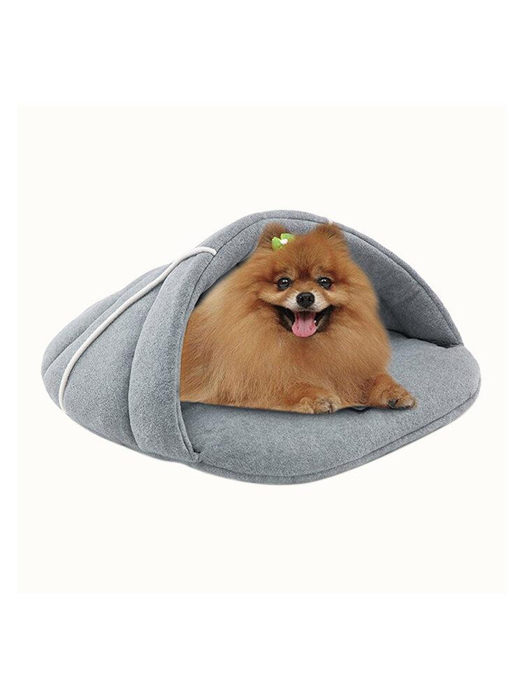 冬の暖かいスリッパペット犬猫眠るベッド子犬洞窟家犬小屋