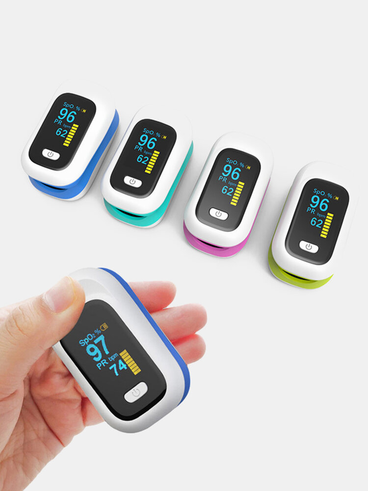 Mini OLED Finger-Clamp Pulse Oximeter Home Heathy Blood Oxygen Saturation Monitor