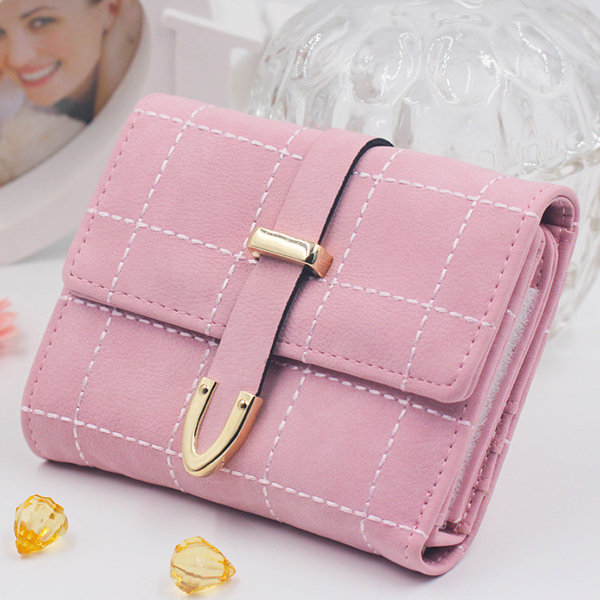 Stylish Women Candy Color Small Wallet Short Purse For Women (SKU886153) photo