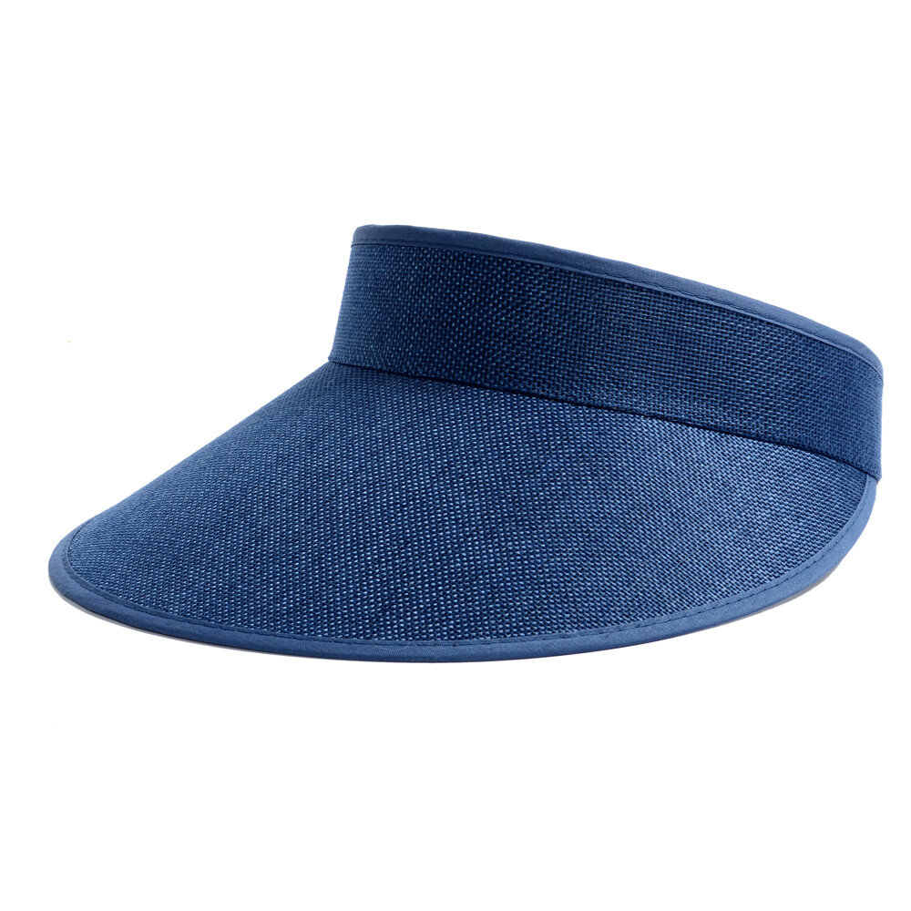 Womens Breathable Linen Hat Adjustable Casual Sports Empty Top Visor Sun Cap