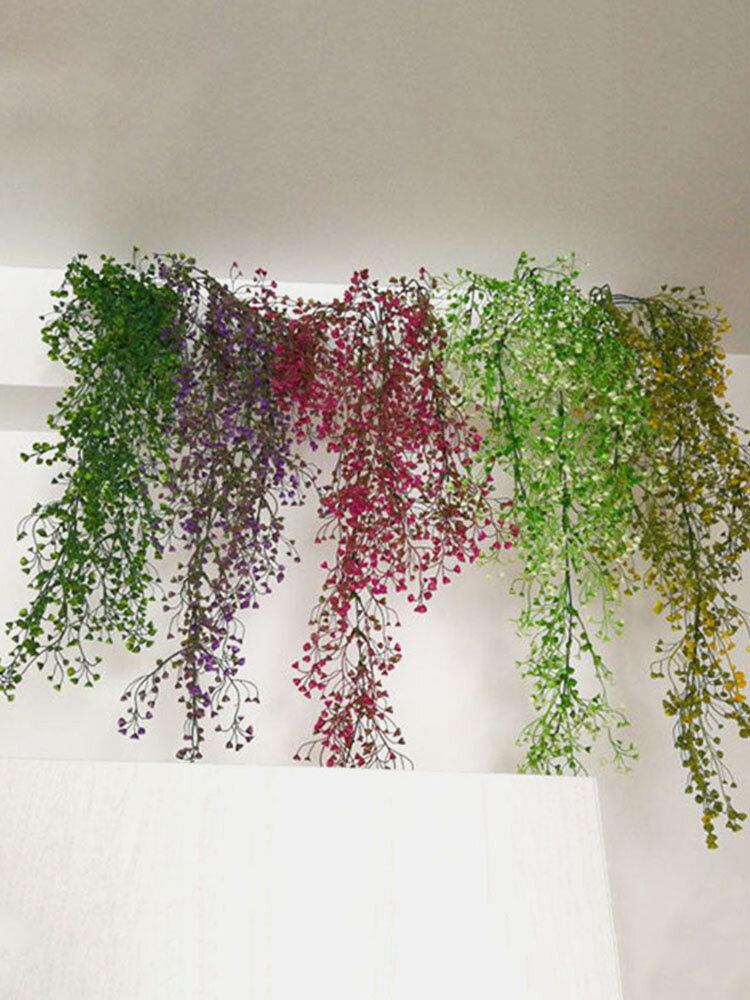 緑の植物花つるDecoratiプラスチック花植物ハンギングバスケット花装飾壁掛け