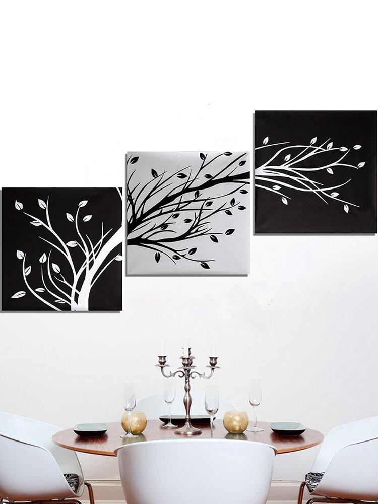 3 pezzi moderna tela astratta pittura senza cornice albero wall art camera da letto soggiorno decorazioni per la casa