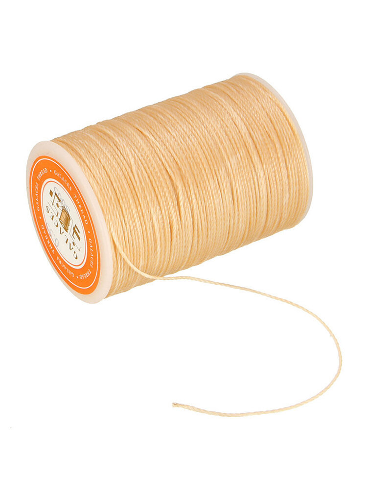 115m Dacron Wax Line Round DIY Leather Craft 0.55mm For Shoe Sewing