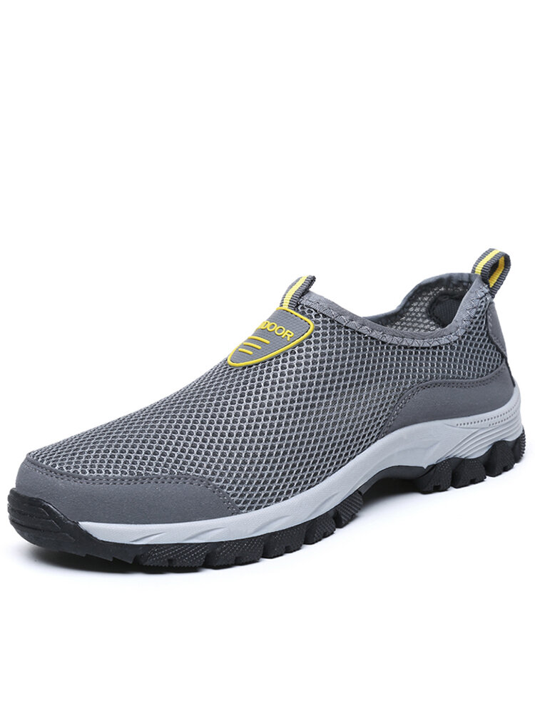 Men Mesh Non Slip Large Size Wearable Outdoor Casual Hiking Sneakers
