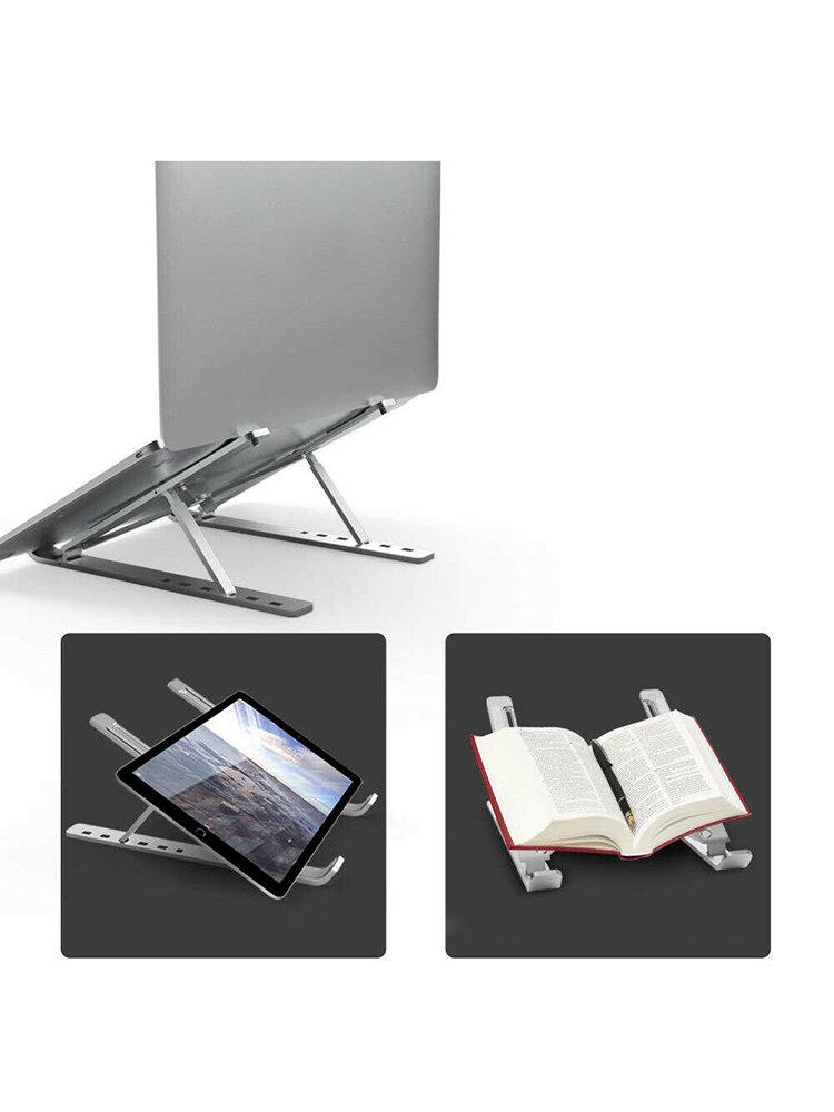 Aluminum Alloy Tablet Bracket Six Gears Adjustable Mount Foldable Portable Laptop Stand Holder