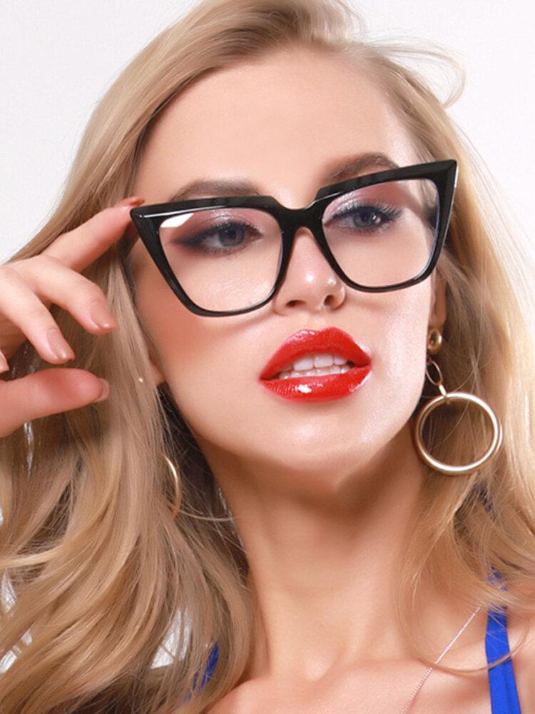 Blue Light Glasses Frames Women Cat Eye Eyeglasses Ladies Retro Oversized Optical Frame Eyewear