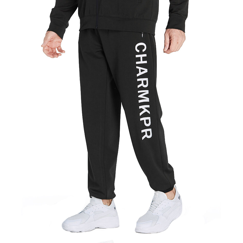 ce01508faaa40a ChArmkpR Mens Letter Printed Elastic Waist Zipper Pocket Casual Jogger  Pants is Durable-NewChic