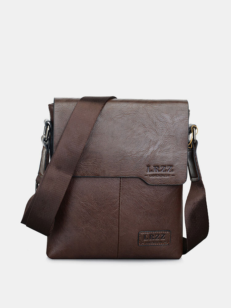Men PU Crossbody Bag Business Bag Shoulder Bag Work Bag Classic Messenger Bag