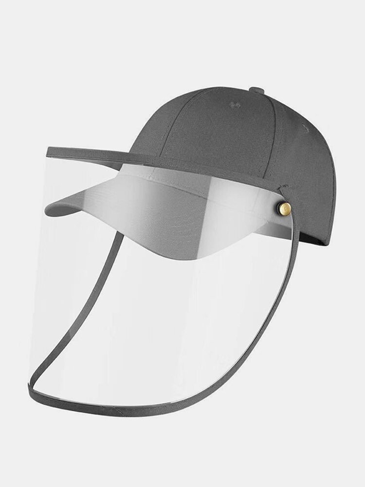 COLLROWN Transparent Detachable Sun Visor Anti-fog Cap