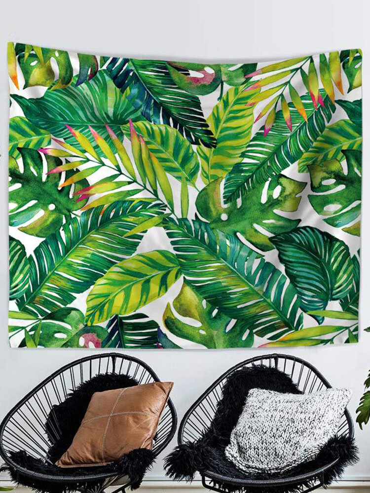 3D緑の葉のタペストリー熱帯植物の壁掛け農家の家の装飾テーブルクロスベッドカバー