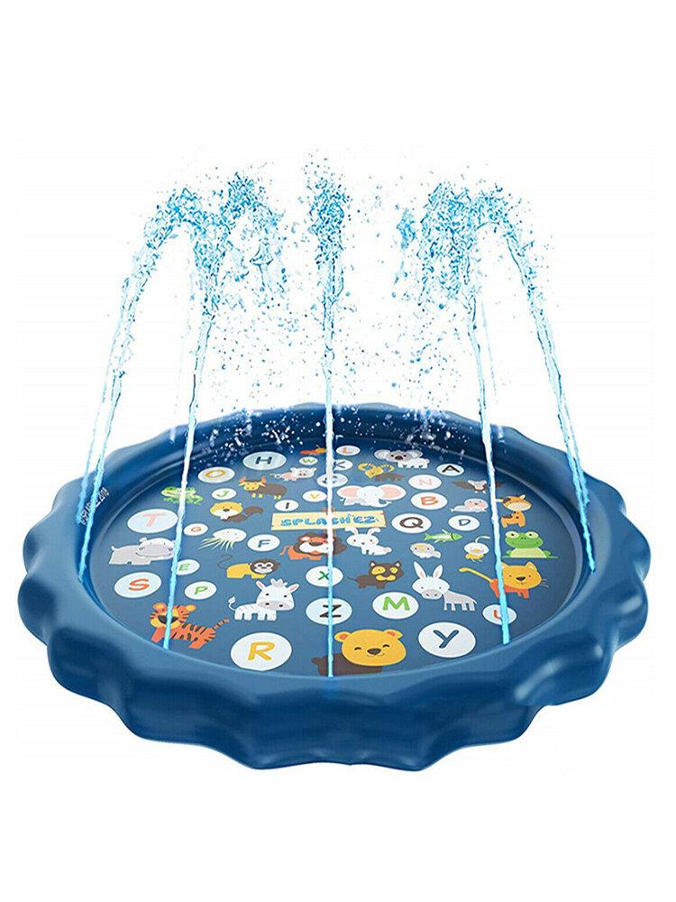 子供たちは水マットゲームビーチパッド子供赤ちゃんプレイゲーム屋外インフレータブルスプレー水スプリンクラークッションマットおもちゃ