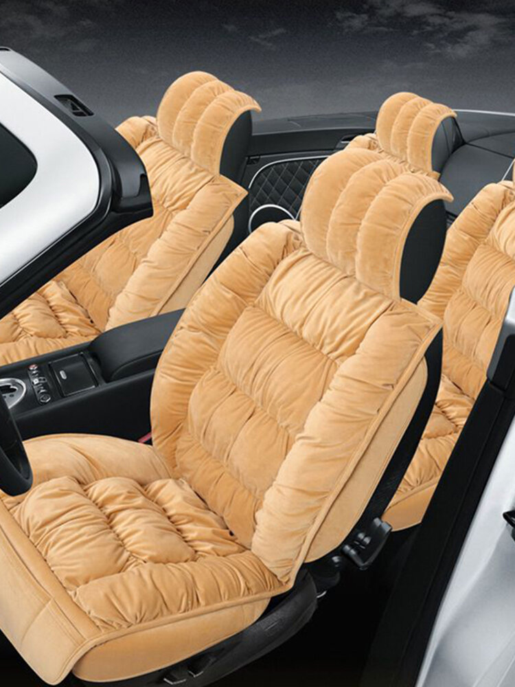 Universal Size Plush Car Seat Cover Set for 5 Seats Car Soft Cushion Car Front Back Seat