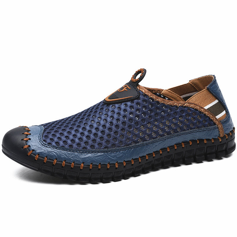 Large Size Men Hand Stitching Mesh Water Shoes Outdoor Slip Resistant Sneakers by Newchic